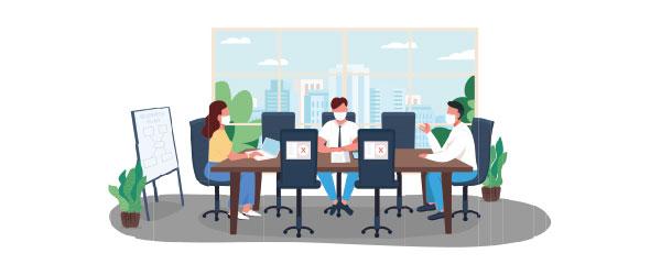 Cambio de costumbres en los hábitos sociales y laborales de las personas