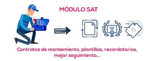 Módulo SAT para contratos de mantenimiento en empresas de servicios